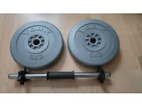 Hand weights York Barbell 10KG with Bar