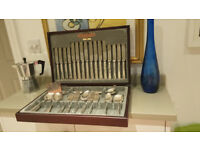 Silver Plated/Stainless Steel 58 piece Cutlery Set