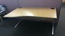15 x Office desks matching left & Right Hand