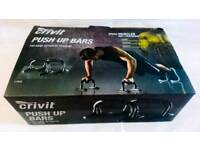 Push Up Bars 2x Crivit Gym Fitness Training Equipment with Foam Grips