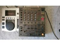 DJ MIXER + CDJ DECK SOLD SEPARATELY OR TOGETHER- PIONEER DJM600 MIXER AND PIONNEER CDJ100