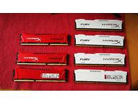 KINGSTON HYPERX SAVAGE 12GB 3X4GB DDR3 1600MHZ PC3-12800 MEMORY HX316C9SR/4