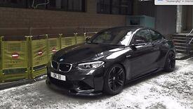 """SET OF 4 18"""" BMW M4 STYLE ALLOYS IN BLACK POLISH TO FIT E90 E92 E92 E93 E46 3 SERIES F10 F12 M3 M5"""
