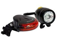 New Toppeak bike cycle front and back lights, including batteries, instructions and fittings Highlit