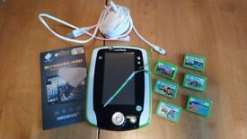 Leapfrog LeapPad 2 Green GC Plus 6 Games & Screen Protectors Educational Learning Tablet
