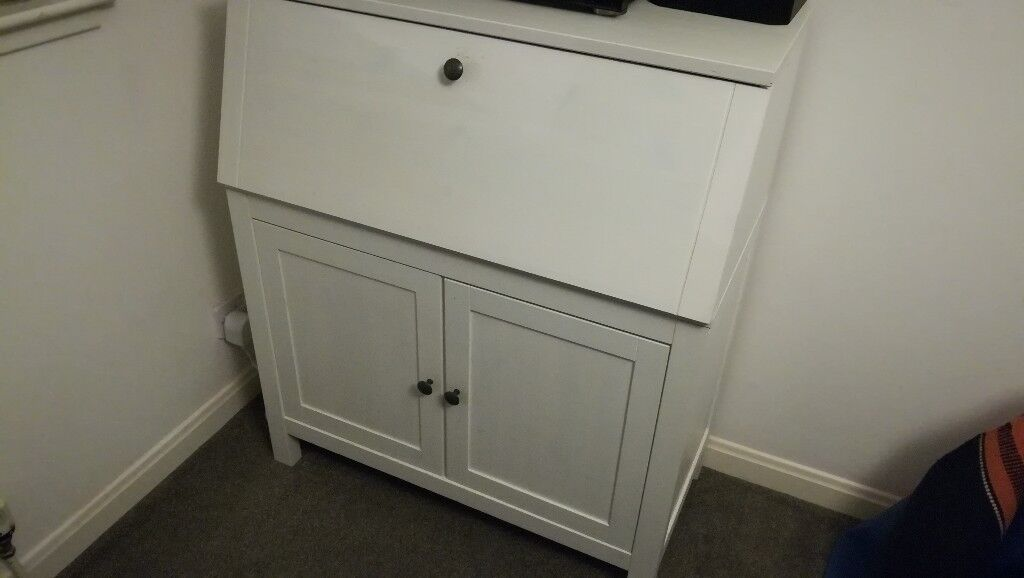 White bureau desk ikea hemnes in southside glasgow gumtree