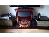 BERRY electric fire with surround and mantle - DORNOCH