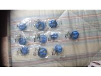 10 Blue Ear Plugs Acro Essentials with cords