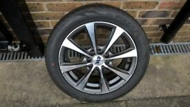 New 15 Inch Alloy wheels & tyres (2 ONLY) 4 stud 100 & 108 pcd