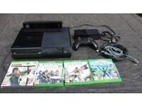 Xbox one 1540 model with Kinect and 4 games