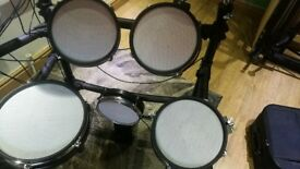 WHD 517DX electronic drum kit with Pearl double bass pedal