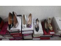 44 Pairs of brand new stylish woman's shoes .sizes 3 to 8
