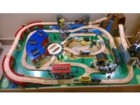 Universe of Imagination Mountain Rock Train set and table