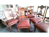 A set of six oak antique dining chairs. for sale  Kilmarnock, East Ayrshire