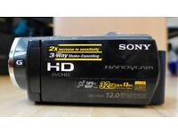 Sony HDR-CX505VE HD Camcorder with built in 32GB Hard Drive and 12 Megapixel still photo.