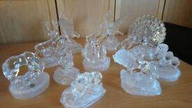 Glass animal ornaments