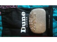 Dune Purse Clutch Evening Bag Silver Gold Diamante Rose Clasp