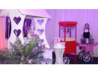 Candy Cart, Popcorn Machines, Candy Floss Machines, Fruit Palm Trees, Chocolate Fountain Hire