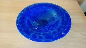 Blue fruit dish - large
