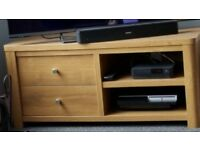 Next Oak TV Unit with drawers