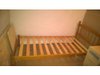 Pine single bed 3ft