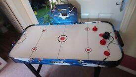 Air hockey table - as new. Mains operated, 4 foot long