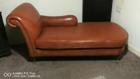 Very Rare Camel Leather Chaise Longue