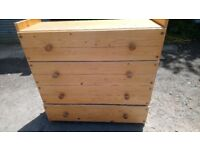 PINE CHEST OF DRAWERS H 110CM GOOD CONDITION CAN DELIVER OR COLLECTION