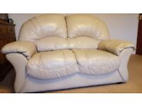 two pieces leather suite, two seater, three seater sofa, couch, settee (free local delivery)