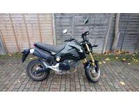 Honda MSX 125cc Motorbike Black 2014 64plate