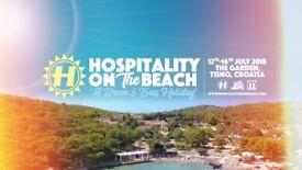 2x Hospitality On The Beach CROATIA Tickets