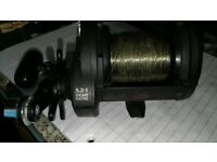 SHIMANO tld triton multiplier fishing reel in good condition