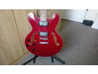 Hondo 935 Left Handed Electric Guitar (Gibson 335 Replica)