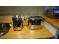 Smeg Chrome Kettle and Smeg Chrome Toaster (Sold individually or as a pair - discounted)