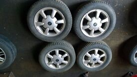 Ford Focus Mondeo 15'' alloys 4x108 with good tyres