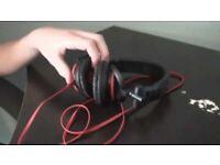 Sony MDR-V55 DJ Stereo Headphones - Red