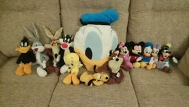 Looney Tunes & Disney Soft Toys Bundle