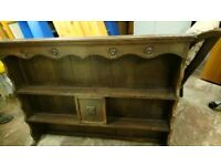 Wooden retro style shelves, v good condition can deliver in Bristol or collection