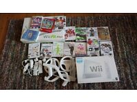Wii, games and blance board bundle