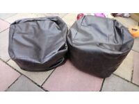 2 x bean bags small, great for kids playhouse?