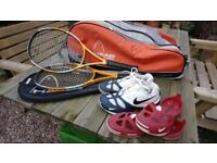 Head Tennis Racquets, bag and Nike Trainers (great condition)