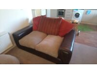 Suite of one 2-seater sofa, two armchairs, one footstool