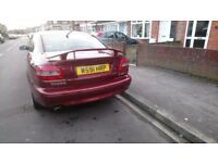 volvo c70 coupe 2.4 petrol ,red ,full leather .manual