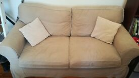 used two-seated Ikea sofa bed, beige, good condition, £50, collection only, North Finchley
