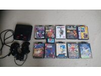 Sega mega drive 2 ,11 games ,2 controllers