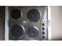 Unused whirlpool stainless steel hob