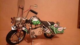 Unusual handmade motorcycle