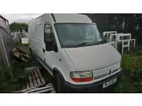 RENAULT MASTER 2.8lt DIESEL VAN SEMI HIGH TOP LWB, 2001 , NO MOT!