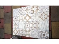Marble and wood mix ceramic tiles