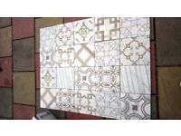 Marble and wood mix ceramic tiles x 20